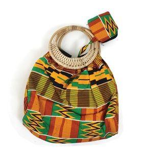 Handbags - Hand-crafted Bamboo Handle Kente Purse